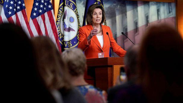 PHOTO: Speaker of the House Nancy Pelosi speaks during a media briefing ahead of a House vote authorizing an impeachment inquiry into President Trump on Capitol Hill in Washington, D.C., Oct. 31, 2019. (Joshua Roberts/Reuters)