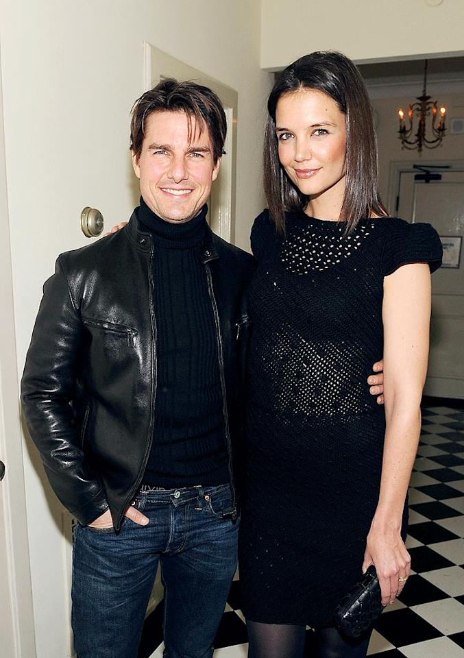 "Speaking of major age differences, Tom Cruise is 16 years older than his wife Katie Holmes. Nevertheless, the couple is so in sync they often coordinate their clothes, as they did for a Golden Globes bash at LA's Chateau Marmont. Frazer Harrison/<a href=""http://www.gettyimages.com/"" target=""new"">GettyImages.com</a> - January 15, 2010"