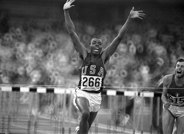 <p>Sprinter Willie Davenport made his Olympic debut in 1964 and won a gold medal in the 110 meter hurdle four years later at the 1968 Games. He represented Team USA at the 1972 Games and won a bronze in the 110 meter at the 1976 Games. (AP Photo) </p>