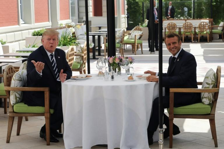 'Points of convergence' for Trump and Macron