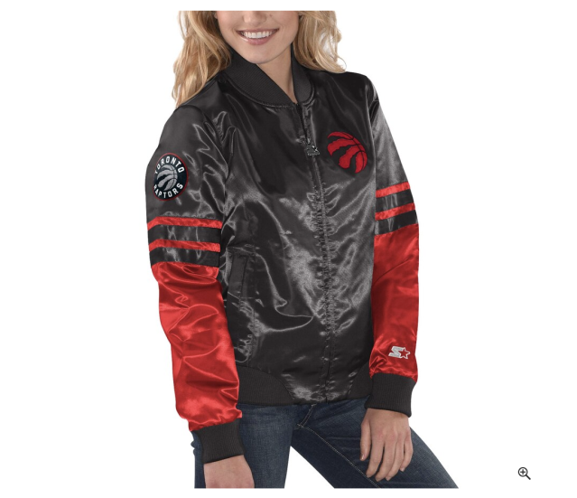 (Women's Starter Black Toronto Raptors Full-Zip Jacket)