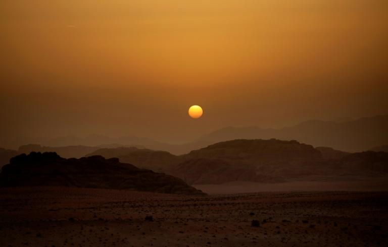 The sun sets on Jordan's Wadi Rum, where the classic 1962 epic Lawrence of Arabia was filmed setting the stage for many other Hollywood productions over the years