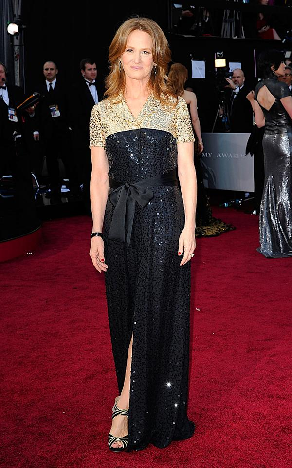 HOLLYWOOD, CA - FEBRUARY 26:  Melissa Leo arrives at the 84th Annual Academy Awards held at the Hollywood & Highland Center on February 26, 2012 in Hollywood, California.  (Photo by Kevork Djansezian/Getty Images)
