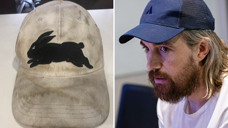 Atlassian CEO Mike Cannon-Brookes has won the bid for Russell Crowe's hat. Images: Getty, Twitter (Russell Crowe)