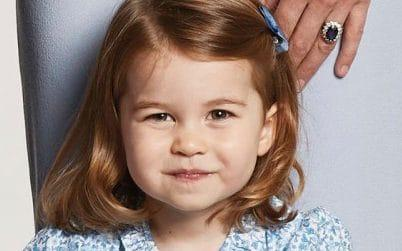 Princess Charlotte, pictured in a family photograph that features on her parents' Christmas cards this year, will join Willcocks Nursery School from January - Kensington Palace