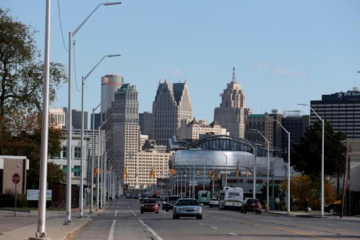 The recent tourist revival of downtown Detroit does not benefit the vast majority of its black population (AFP Photo/JEFF KOWALSKY)