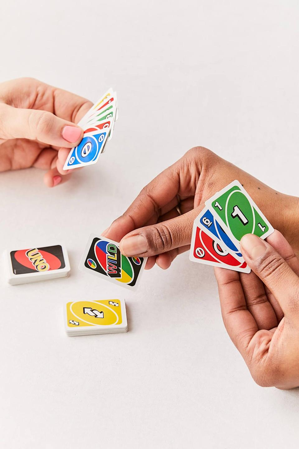 <p>This <span>World's Smallest Uno Card Game</span> ($6) is perfect for your next family road trip or for your teen to keep in their bag.</p>
