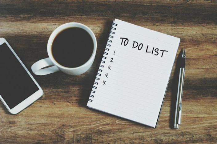 Even your To-do list can benefit from a good decluttering [Photo: Getty]