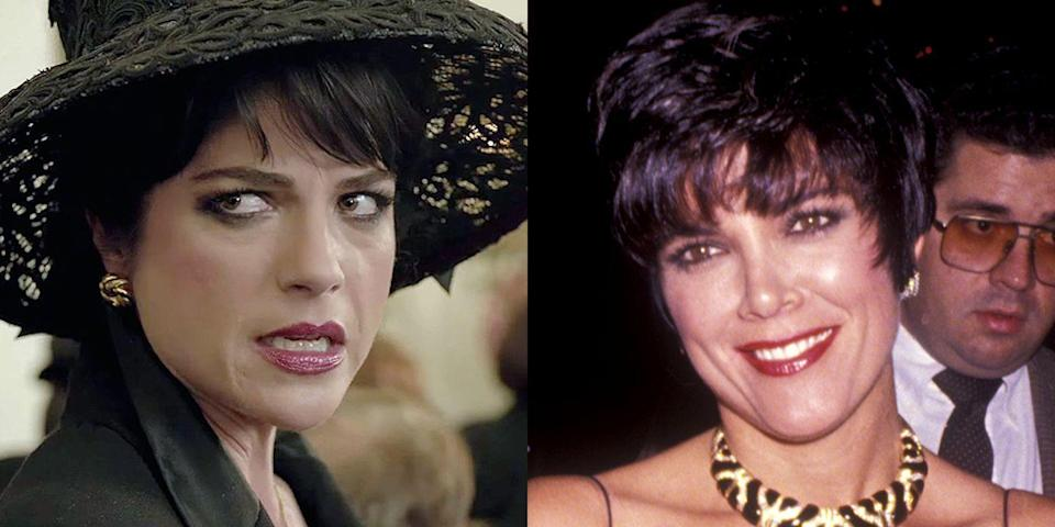 """<p>Blair <a href=""""https://www.marieclaire.com/celebrity/news/a17284/selma-blair-kris-jenner-american-crime-trailer/"""" rel=""""nofollow noopener"""" target=""""_blank"""" data-ylk=""""slk:played Jenner"""" class=""""link rapid-noclick-resp"""">played Jenner</a> as her pre-<em>Keeping Up with the Kardashians </em>self in <em>The People v. O. J. Simpson: American Crime Story, </em>which also starred David Schwimmer as her husband, Rob, and Cuba Gooding, Jr., as the acquitted murderer. </p>"""