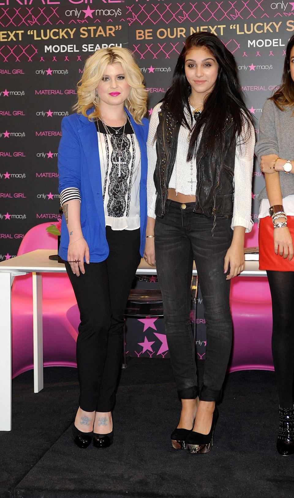 """<p>In Material Girl with Kelly Osbourne at the Material Girl """"Lucky Stars"""" casting call at Macy's Herald Square in New York City in 2011.</p>"""