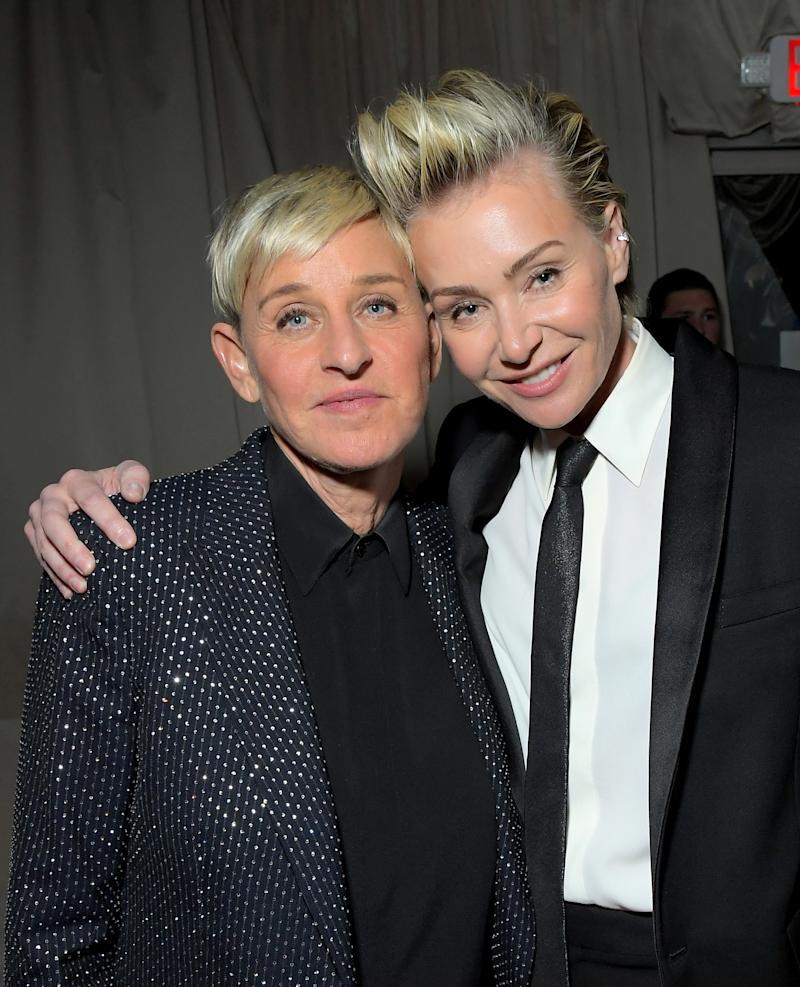 Ellen DeGeneres and Portia de Rossi attend the Netflix 2020 Golden Globes After Party on January 05, 2020 in Los Angeles, California.