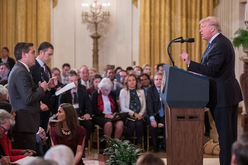 White House suspends CNN reporter's press pass after heated confrontation with Trump