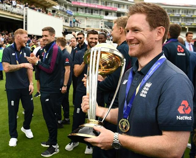 Eoin Morgan would love to skipper England to the World Twenty20 title next year and add it to this year's World Cup but only if his back problem is cleared up (AFP Photo/Daniel LEAL-OLIVAS)