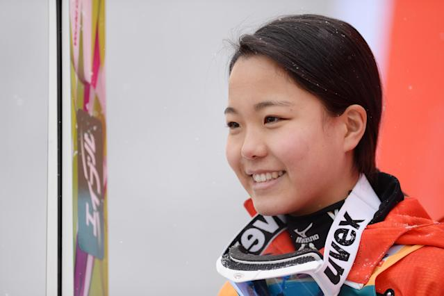SAPPORO, JAPAN - JANUARY 12: Sara Takanashi of Japn smiles after winning the FIS Women's Ski Jumping World Cup Sapporo at Miyanomori Ski Jump Stadium on January 12, 2014 in Sapporo, Japan. (Photo by Atsushi Tomura/Getty Images)