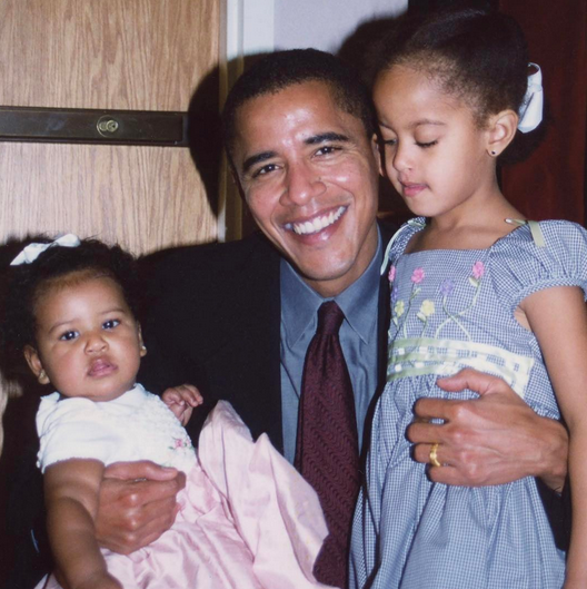 """<p>""""Happy #FathersDay @BarackObama,"""" wrote Michelle. """"Our daughters may be older and taller now, but they'll always be your little girls. We love you."""" The former president later shared the photo on Twitter, writing, """"Of all that I've done in my life, I'm most proud to be Sasha and Malia's dad."""" (Photo: <a rel=""""nofollow"""" href=""""https://www.instagram.com/p/BVfDfC_gnAe/?taken-by=michelleobama"""">Michelle Obama via Instagram</a>) </p>"""