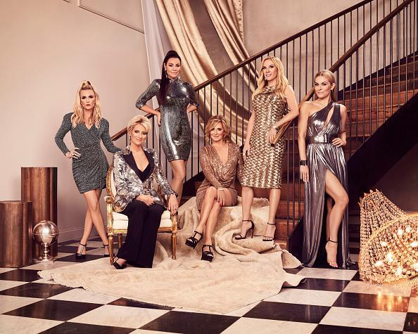 "The Real Housewives of New York City Season 12 - Pictured: (l-r) Tinsley Mortimer, Dorinda Medley, Luann de Lesseps, Sonja Morgan, Ramona Singer, Leah McSweeney<span class=""copyright"">Sophy Holland—Bravo/NBCU Photo Bank/Getty Images</span>"