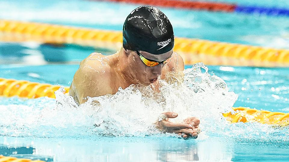 Zac Stubblety-Cook, pictured here in action at the Australian Olympic swimming trials.