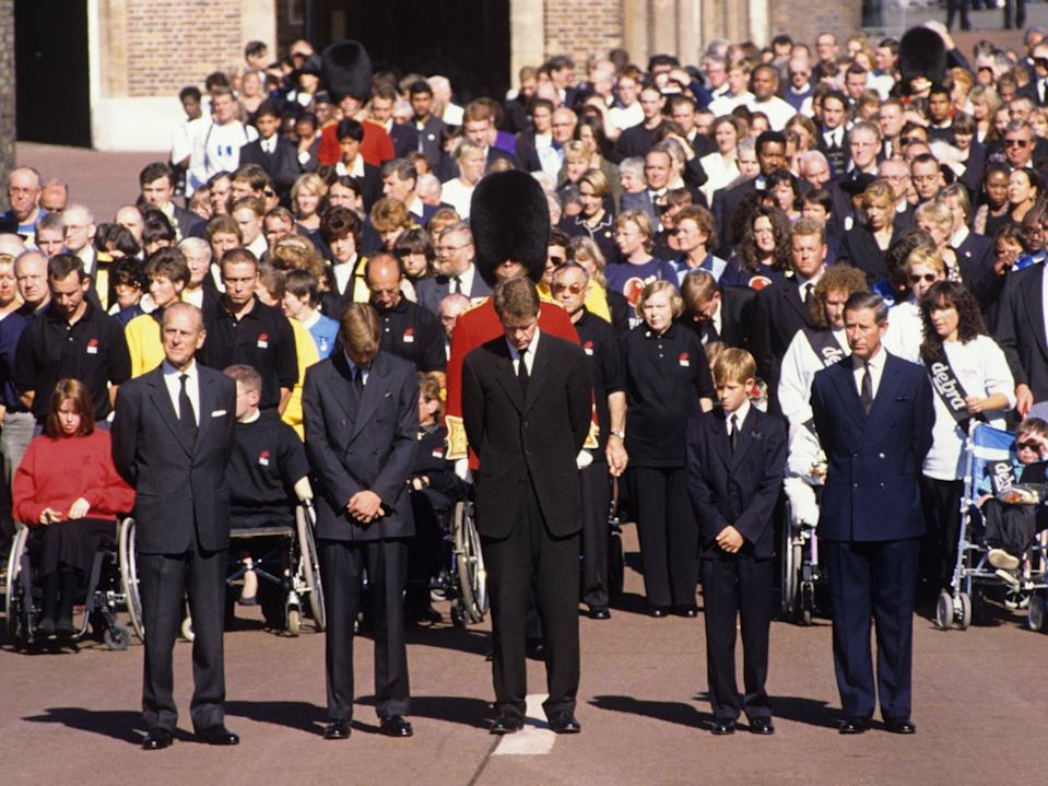 <p>Princess Diana's funeral, in 1997, was the first major royal ceremonial funeral since that of Queen Mary in 1953</p> (Shutterstock)