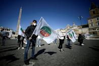 Independent workers in Italy protest against Covid-19 restrictions