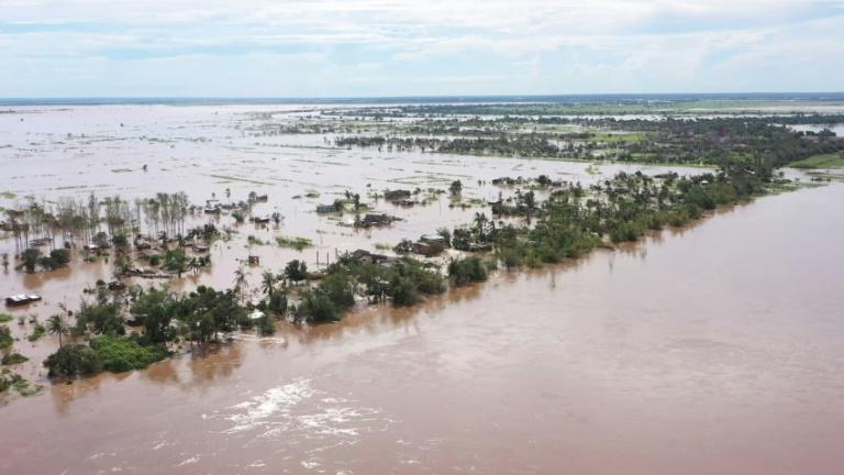 The storm flooded parts of central Mozambique, forcing thousands to flee their homes (picture: Unicef)