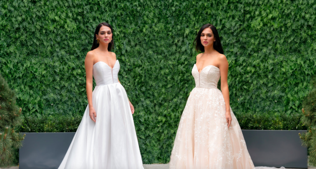 A wedding dress designer has created a range of reversible wedding dresses [Photo: Trish Peng]