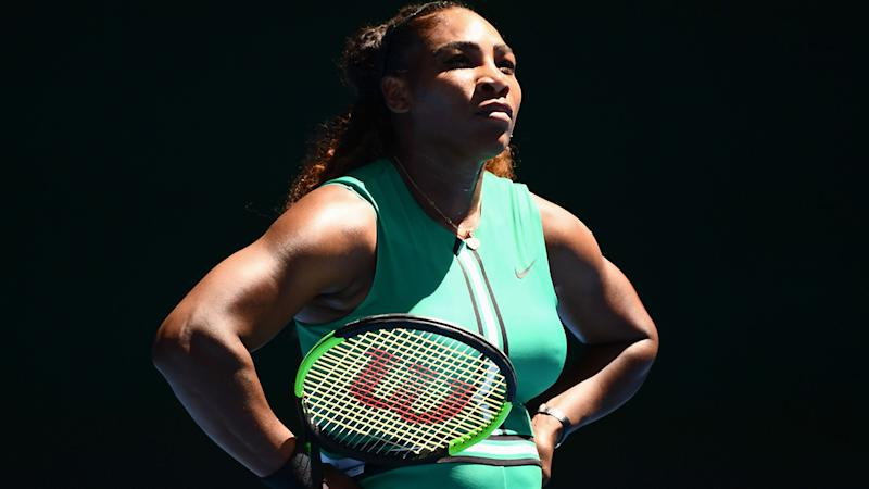 Serena edges top seed Halep to reach quarters
