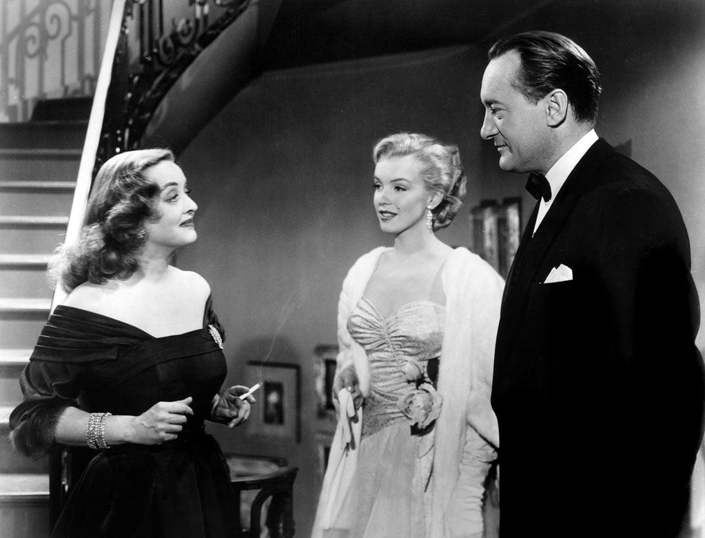 """ALL ABOUT EVE  """"She's very young. It's one of her first roles. What I love about it is that you can see her developing 'Marilyn Monroe,' this character, and you can see also how talented she really was. She was starting with something. She doubted herself endlessly, and relied on acting coaches and never felt her value as an actress. Maybe that was one of the things that made her so good was that she was always striving. It's a raw performance at the beginning of the evolution, you can see the beginnings, her face doesn't have the same agility that it does later on, but you can see the brush strokes of it."""""""