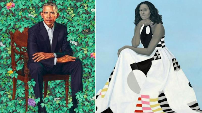 Portraits of President Obama and Former First Lady Are Lauded and Ridiculed on the Internet