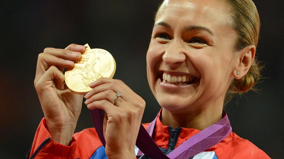 Jessica Ennis set the world heptathlon record and won gold at the London Olympics in 2012 (Getty Images)