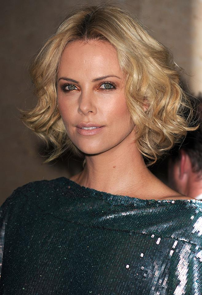 "<a href=""http://movies.yahoo.com/movie/contributor/1800019484"">Charlize Theron</a> at the 24th American Cinematheque Annual Gala Honoring Matt Damon on March 27, 2010."