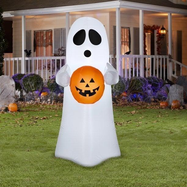 <p>Keep it cute and friendly with the four-foot <span>Airblown Inflatables Spooky Ghost</span> ($15). It's a great way to add a statement piece to your lawn.</p>