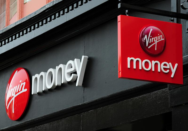 A general view of a branch of Virgin Money in Derby city centre.