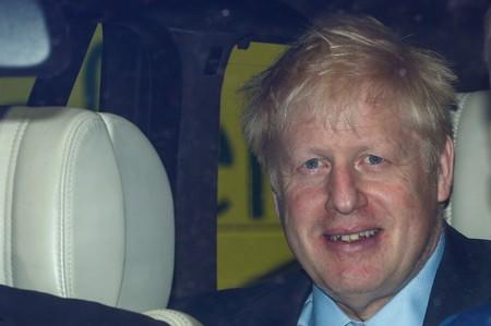 PM hopeful Boris Johnson arrives at the Parliament in London