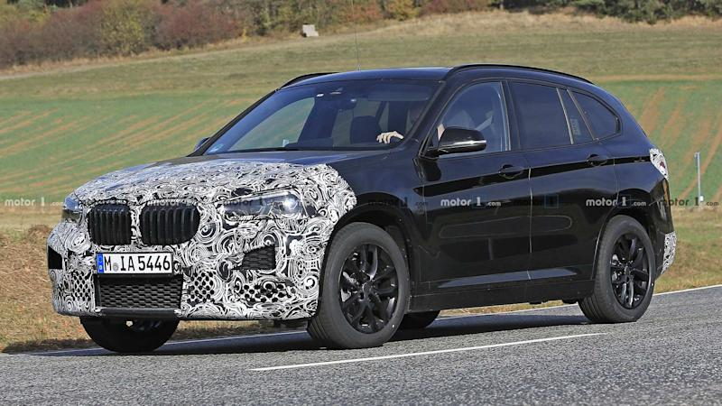 spied bmw x1 getting ready for a minor makeover. Black Bedroom Furniture Sets. Home Design Ideas