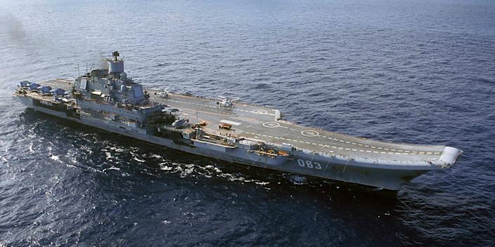 Russia's conventionally-powered Admiral Kuznetsov aircraft carrier