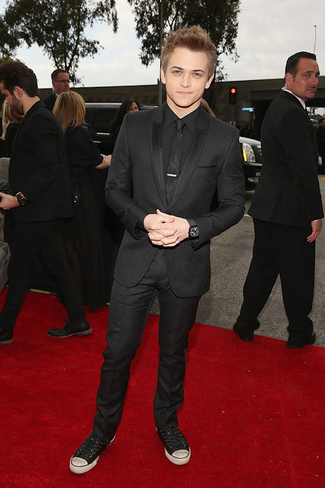 Hunter Hayes arrives at the 55th Annual Grammy Awards at the Staples Center in Los Angeles, CA on February 10, 2013.
