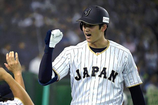 The Padres are one of seven teams still in the running for Japanese two-way player Shohei Ohtani. (AP)
