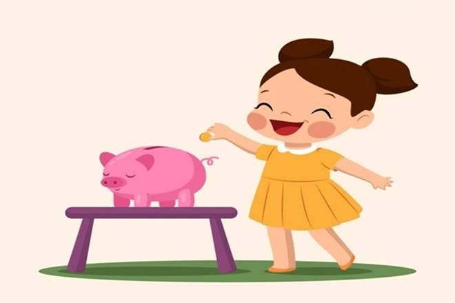 Children's Day, financial independence, savings, investments, savings bank account, piggy bank, power of compunding, length of investment, systematic investment plan, SIP, goal-based investments, rate of interest, inflation, puchasing power of money, higher education, financial education