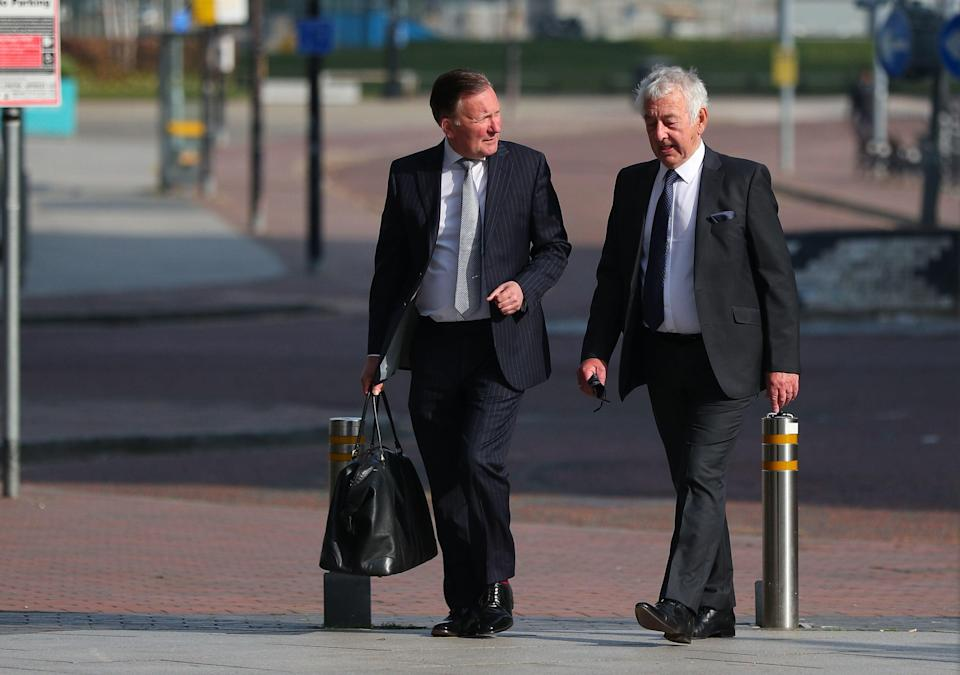 Retired South Yorkshire Police officer Alan Foster (right) has been accused in court of altering statements in the aftermath of the Hillsborough disaster alongside ex-chief superintendent Donald Denton and lawyer Peter Metcalf (Peter Byrne/PA)