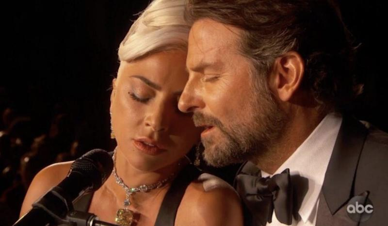 Lady Gaga and Bradley Cooper perform Shallow at the Academy Awards