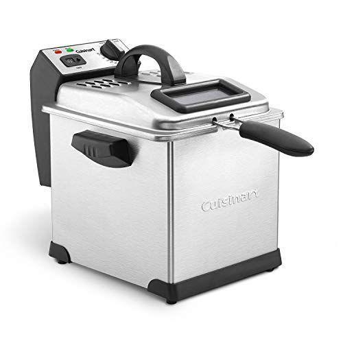 """<p><strong>Cuisinart</strong></p><p>amazon.com</p><p><strong>$112.12</strong></p><p><a href=""""https://www.amazon.com/dp/B01JCEC76E?tag=syn-yahoo-20&ascsubtag=%5Bartid%7C1782.g.33667534%5Bsrc%7Cyahoo-us"""" rel=""""nofollow noopener"""" target=""""_blank"""" data-ylk=""""slk:BUY NOW"""" class=""""link rapid-noclick-resp"""">BUY NOW</a></p><p>With a cool-touch handle to avoid burns and a removable stainless steel oil container to avoid spillage, this is one of the safest (and most effective) deep fryers on the market.</p>"""