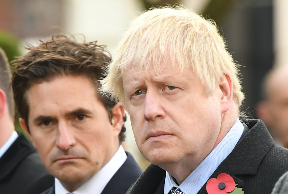 Johnny Mercer and Boris Johnson pictured in 2019. (Stefan Rousseau/PA Images via Getty Images)