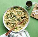 """<p>This one-pot meal is ready in just 20 minutes. Perfect for making a meal on the fly. </p><p><em><a href=""""https://www.womansday.com/food-recipes/food-drinks/recipes/a54439/orecchiette-with-white-beans-and-spinach-recipe/"""" rel=""""nofollow noopener"""" target=""""_blank"""" data-ylk=""""slk:Get the Orecchiette with White Beans and Spinach recipe."""" class=""""link rapid-noclick-resp"""">Get the Orecchiette with White Beans and Spinach recipe. </a></em></p>"""