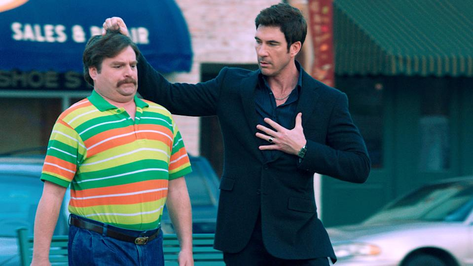 """Zach Galifianakis and Dylan McDermott in Warner Bros. Pictures' """"The Campaign"""" - 2012"""