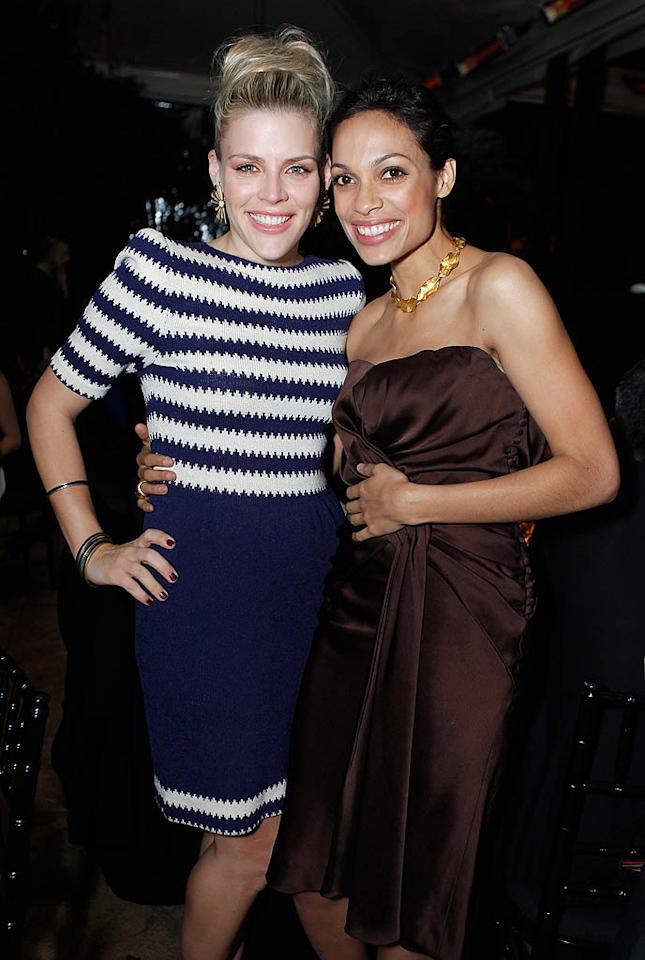 "Oscar season is officially in full swing! Busy Philipps and Rosario Dawson were just a few of the stars who got glammed up for Harvey Weinstein and Dior's pre-Oscar dinner at the Chateau Marmont in Los Angeles Wednesday night. Jeff Vespa/<a href=""http://www.wireimage.com"" target=""new"">WireImage.com</a> - February 23, 2011"