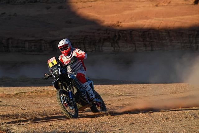 "#8 Hero Motosports Team Rally: Paulo Goncalves <span class=""copyright"">A.S.O. </span>"