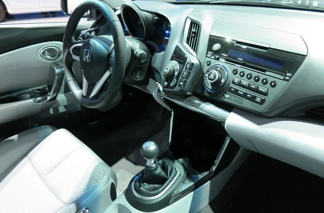 Interior of Honda CRZ hybrid
