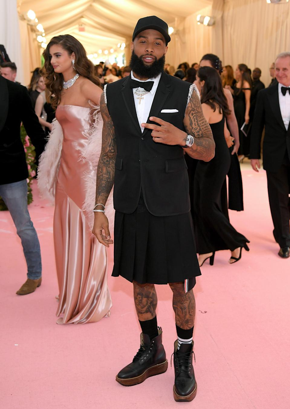 """<h1 class=""""title"""">Odell Beckham Jr. in Thom Browne</h1><cite class=""""credit"""">Photo: Getty Images</cite>"""