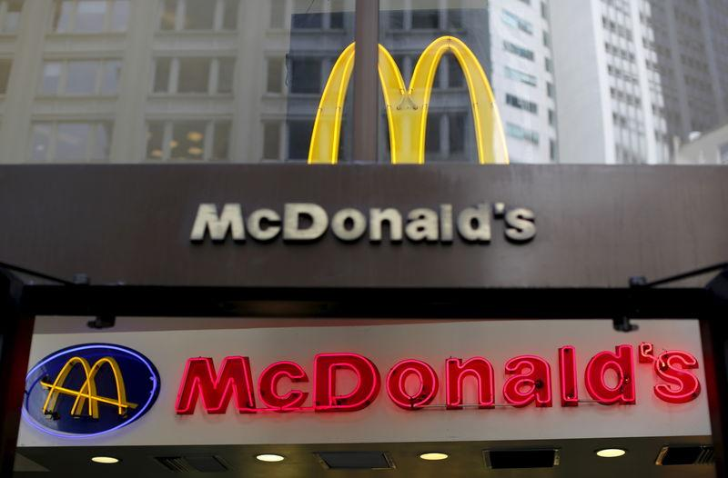 A McDonald's logo is seen at one of the chain's restaurants in San Francisco