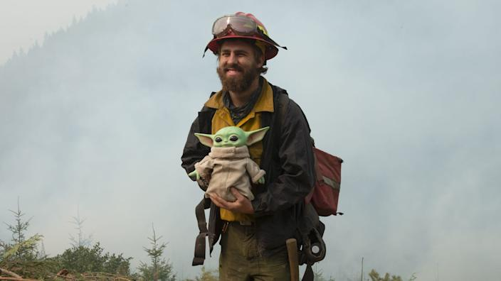 A 5-year-old donated a Baby Yoda doll to firefighters battling multiple wildfires in the Pacific Northwest to thank them for keeping everyone safe.